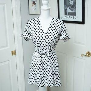 NWT Love Culture Black and White Polka Dot Dress